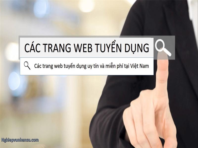 Các trang web tuyển dụng uy tín và miễn phí